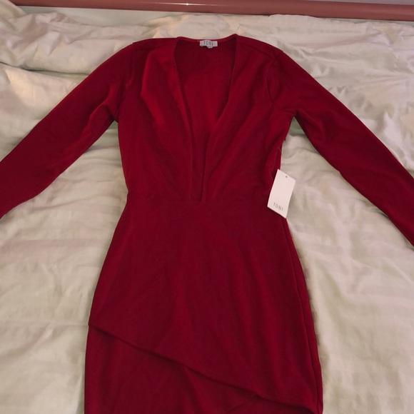 Tobi Dresses & Skirts - Tobi Red Plunge Dress